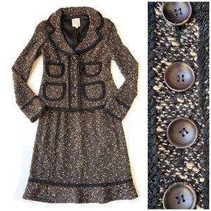 Nanette Lepore | Tweed Boucle Skirt Suit Black XS